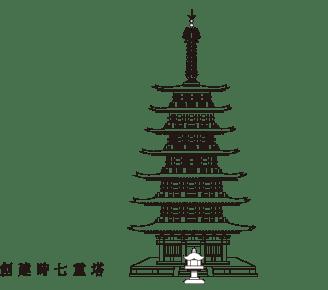 創建時七重塔